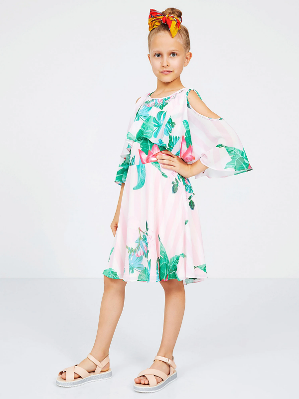 Guess Παιδικό Φόρεμα Chiffon Girl J02K33WB450 P00H e dshop 1